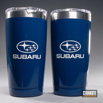 Cerakoted Subaru Themed Tumbler Cup