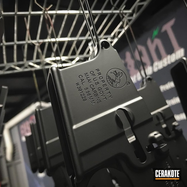 Cerakoted: S.H.O.T,AR Lower Receiver,Graphite Black H-146