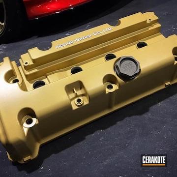 Cerakoted Honda Engine Cover In V-172