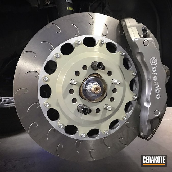 Cerakoted: Brake Calipers,Brake Rotors,Brembo,Satin Aluminum H-151,Gun Metal Grey H-219,More Than Guns,Brembo Brakes,Automotive,Midnight Bronze H-294