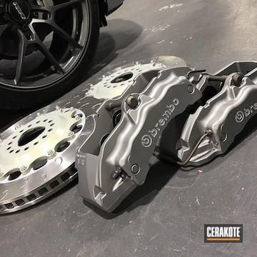 Cerakoted Refinished Brembo Brakes In H-151, H-219 And H-294