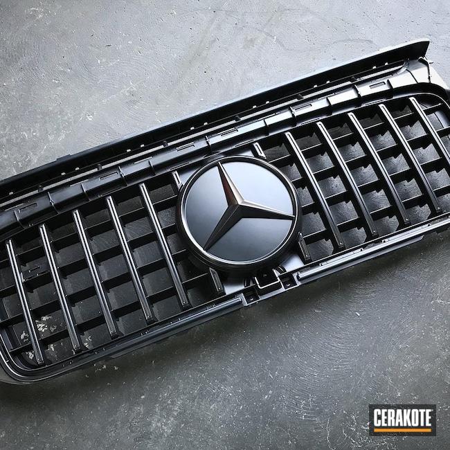 Cerakoted: BLACKOUT E-100,More Than Guns,Mercedes,Automotive,Automotive Grille