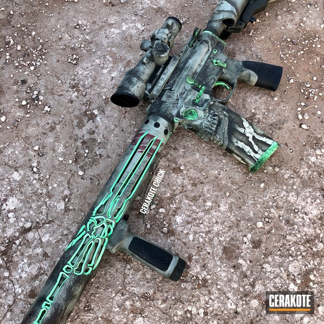Cerakoted: S.H.O.T,Custom AR Build,AR,Tactical Rifle,.223,PARAKEET GREEN H-331,Jack,Sharps Brothers MDL The Jack,Unique-Ars