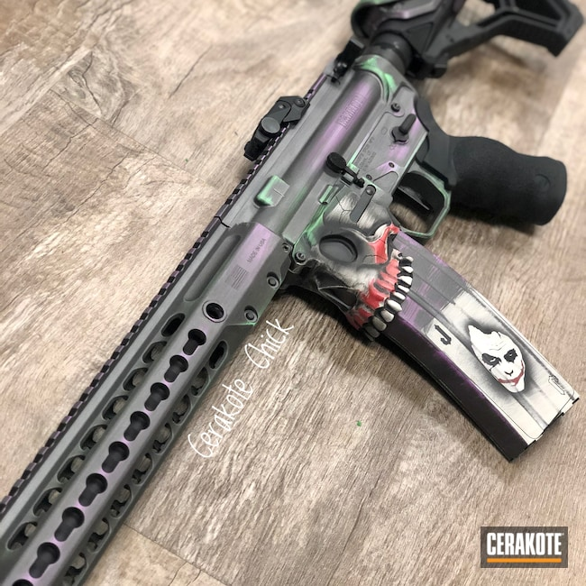 Cerakoted: S.H.O.T,Zombie Green H-168,Sharps Brothers,Tactical Rifle,Jack Lower,AR Build,Graphite Black H-146,AR,Joker,Stainless H-152,PURPLEXED H-332,HaHaHa,DC