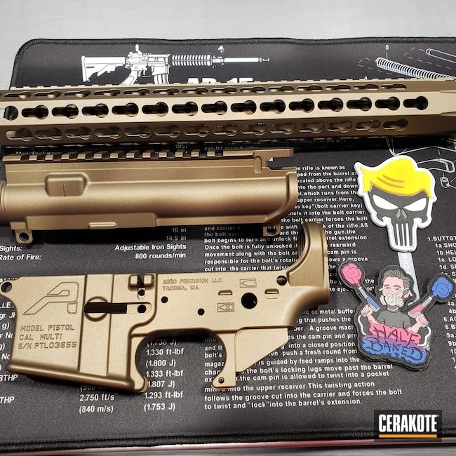 Cerakoted: S.H.O.T,Aero,Burnt Bronze H-148,Gun Parts,.223,AR Build