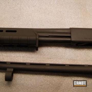 Cerakoted Refinished Remington Shotgun In H-146