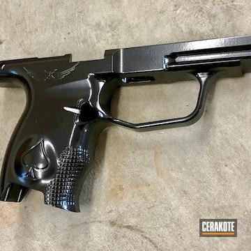 Cerakoted Custom Sig Pistol Frame In H-109