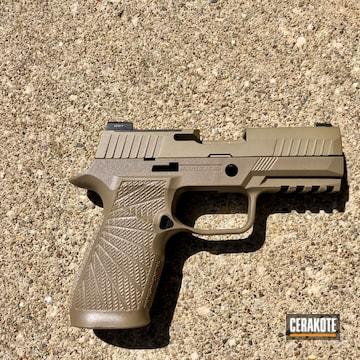 Cerakoted Sig Sauer Handgun In H-235