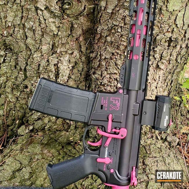 Cerakoted: S.H.O.T,AR Pistol,Two Tone,SIG™ PINK H-224,Tactical Rifle,Guns for Girls