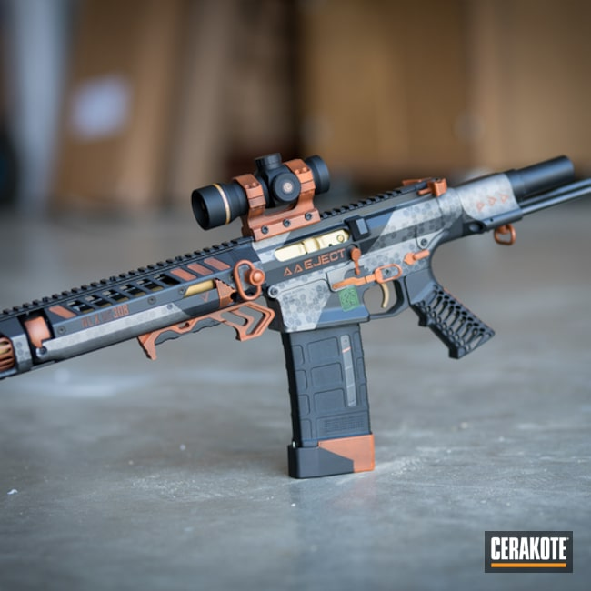 Cerakoted Custom Ar Build In H-309, H-324, H-237, H-170 And H-190
