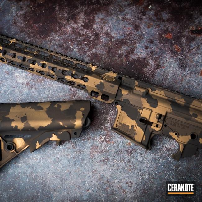 Cerakoted: S.H.O.T,MultiCam,Burnt Bronze H-148,Armor Black H-190,Tactical Rifle,Gold H-122