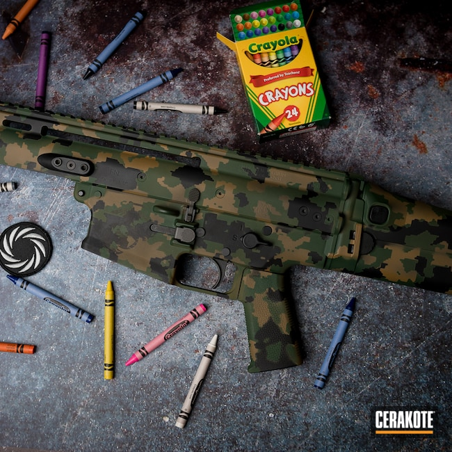 Cerakoted: S.H.O.T,Highland Green H-200,SCAR,MultiCam,TROY® COYOTE TAN H-268,Armor Black H-190,Tactical Rifle