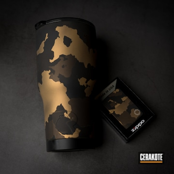 Cerakoted Matching Tumbler And Zippo In H-148, H-190 And H-122