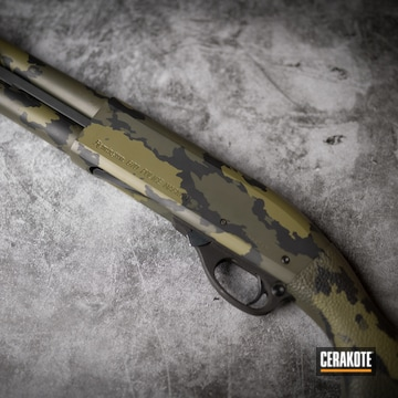 Cerakoted Remington 870 Custom Camo In H-240, H-190 And H-189