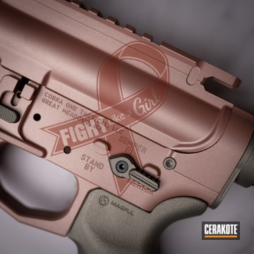 Cerakoted Breast Cancer Awareness Rifle In H-170 And H-327