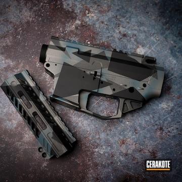 Cerakoted Splinter Camo In H-237, H-170, H-190 And H-185
