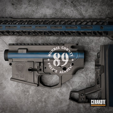 Cerakoted Thin Blue Line Rifle Build In H-220, H-237 And H-190