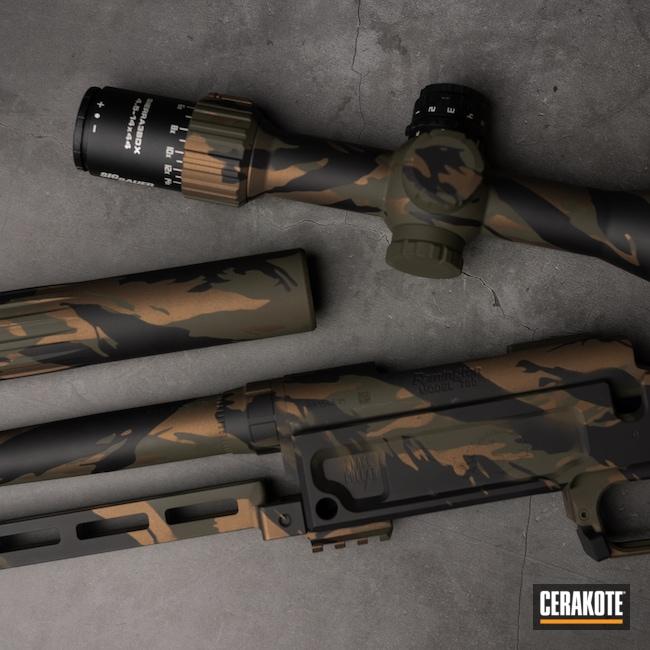 Cerakoted: S.H.O.T,Mil Spec O.D. Green H-240,Burnt Bronze H-148,Armor Black H-190,Gun Parts,Custom Camo