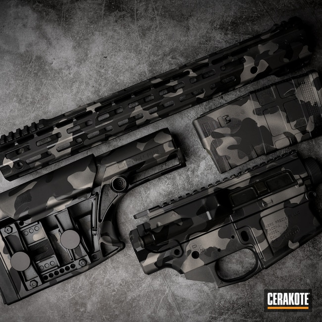 Cerakoted: S.H.O.T,MultiCam,Gloss Black H-109,Tungsten H-237,Titanium H-170,Armor Black H-190,Gun Parts