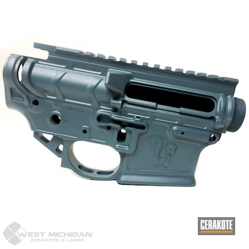 Cerakoted Laser Engraved Upper / Lower In H-185