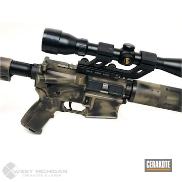 Cerakoted Distressed Ar In H-269 And H-190