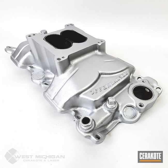 Cerakoted: Offenhauser,More Than Guns,Automotive,Auto,Manifold,CERAKOTE GLACIER SILVER C-7700,Exhaust Manifold