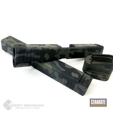 Cerakoted Multicam Black Slides In H-339, H-341 And H-345