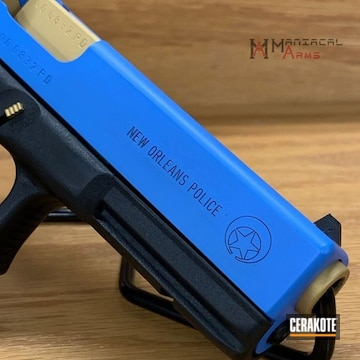 Cerakoted Custom Glock 22 In H-122