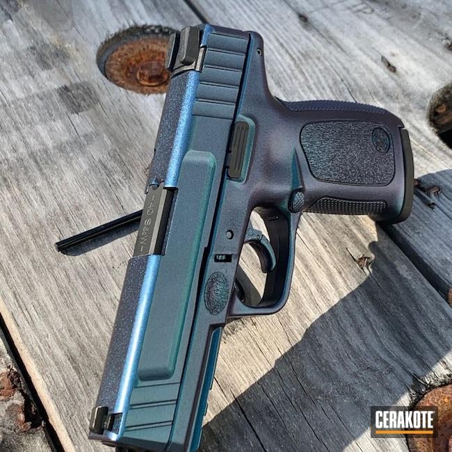 Cerakoted: S.H.O.T,GunCandy Chameleon,Graphite Black H-146,Smith & Wesson,SD9VE,Chameleon,Pistol,.40