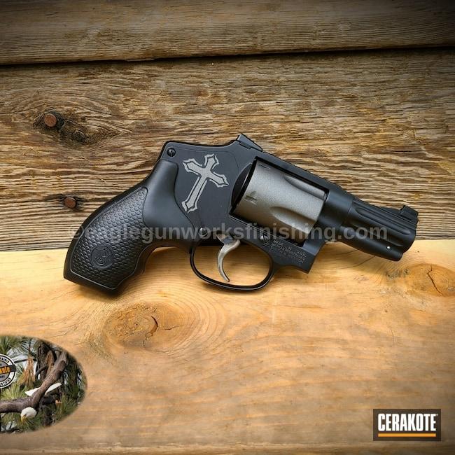 Cerakoted: S.H.O.T,.357,Graphite Black H-146,.357 Magnum,Smith & Wesson,Revolver,Tungsten H-237,640