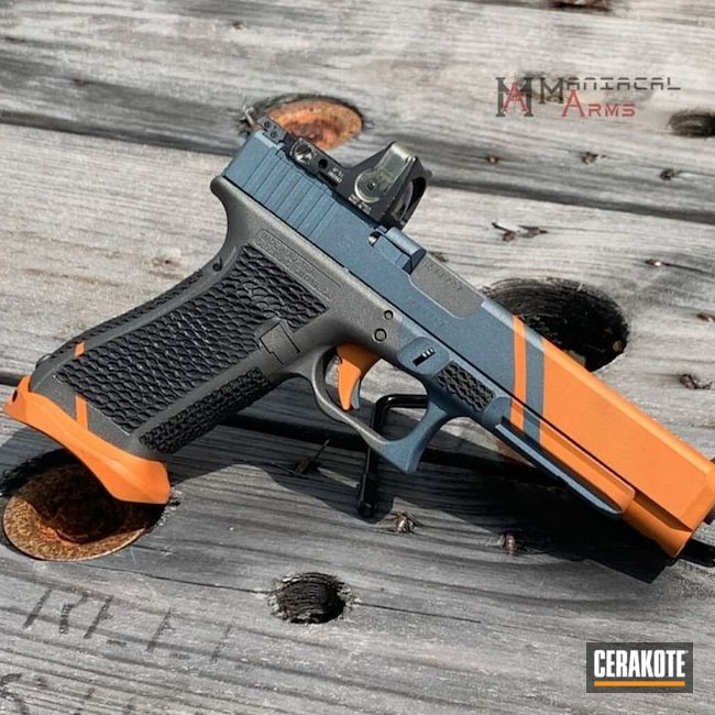 Cerakoted Competition Glock 34 In H-309, H-237, H-146 And H-185