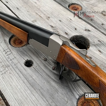 Cerakoted Refinished Winchester Shotgun In H-146 And H-151
