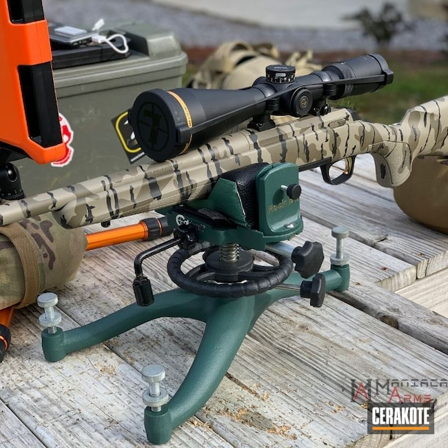 Cerakoted: S.H.O.T,Custom Mix,Bolt Action Rifle,Custom Mix Green,Bottomland,Hunting Rifle,Graphite Black H-146,Browning,XBolt,Browning X-Bolt,.308,Custom Mix Tan