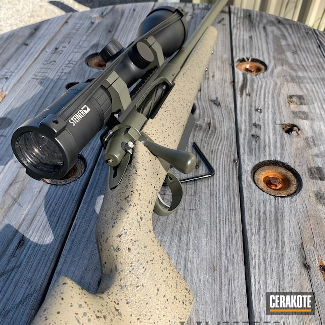 Cerakoted: S.H.O.T,Rifle,Bolt Action Rifle,MAGPUL® FLAT DARK EARTH H-267,Hunting Rifle,TL3,Matching Rifles,Big Horn,O.D. Green H-236,Custom Built,Bighorn Arms TL3,28 Nosler
