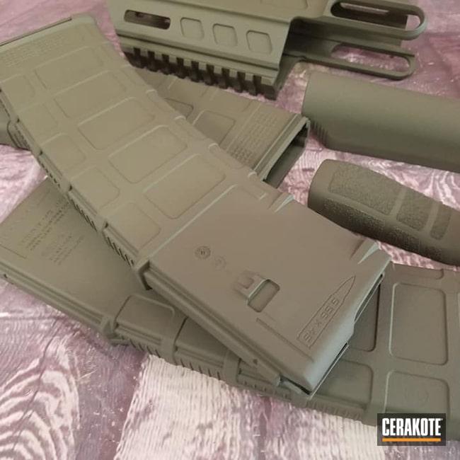 Cerakoted: S.H.O.T,AR15 Handrail,AR Project,Gun Parts,Magazine,O.D. Green H-236,AR Handguard,AR Build,AR-15