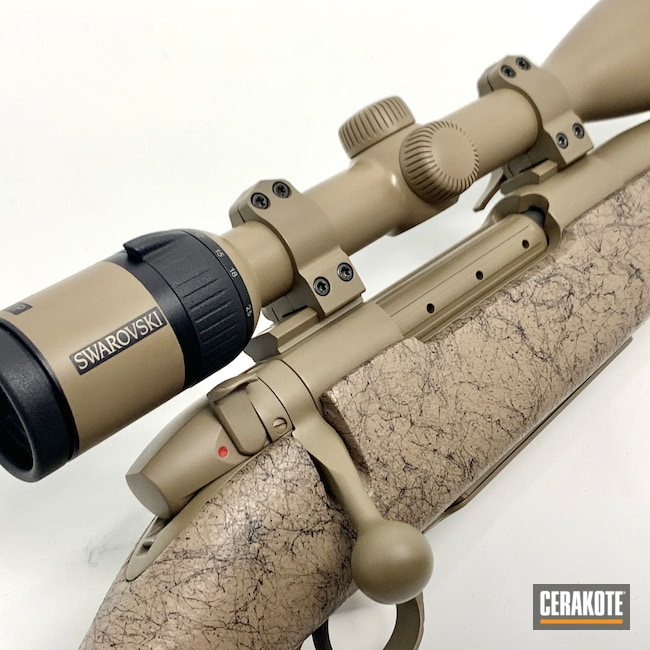 Cerakoted: S.H.O.T,Bolt Action Rifle,MAGPUL® FLAT DARK EARTH H-267,Hunting Rifle,Refinished,Weatherby
