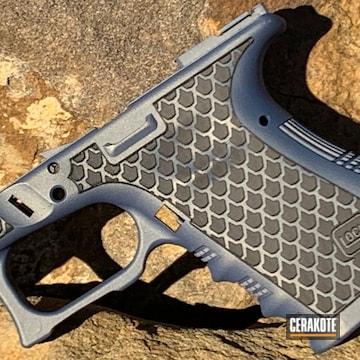 Cerakoted Laser Engraved Glock 19 Frame In H-315