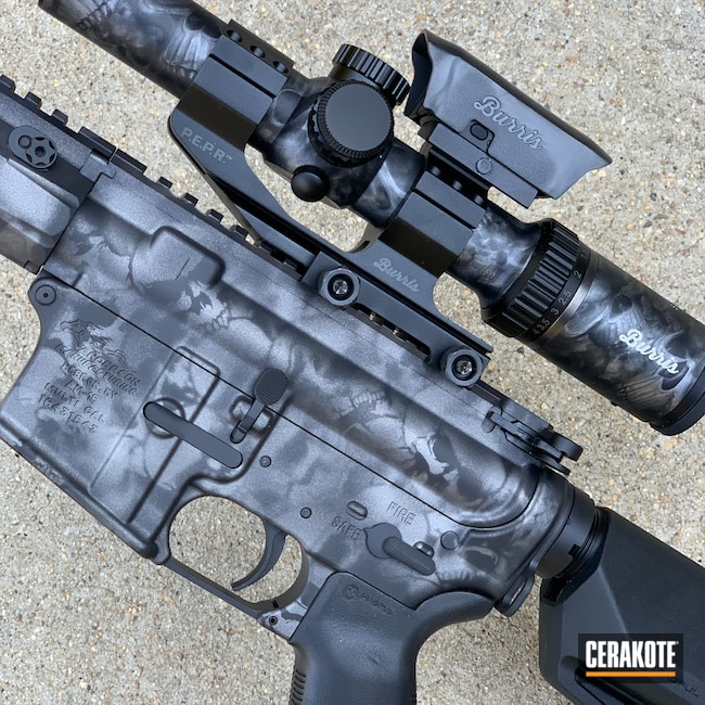 Cerakoted: S.H.O.T,Skull,Anderson Mfg.,Graphite Black H-146,Tactical Rifle,Ghost Camo,AR-15