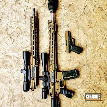 Cerakoted Matching Rifle And Handgun In H-148