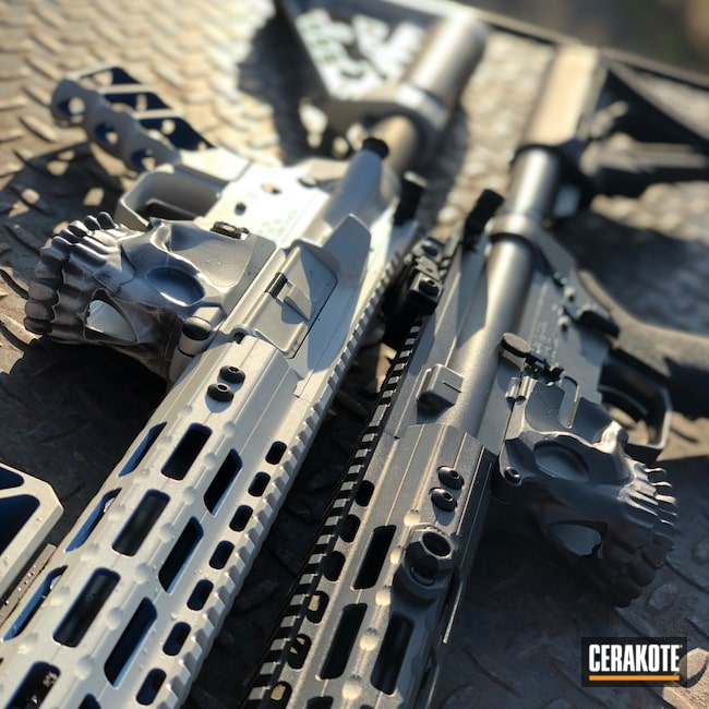 Cerakoted: Bright White H-140,S.H.O.T,Rifle,Spike's Tactical The Jack,Spike's Tactical,Firearm,Tactical Rifle