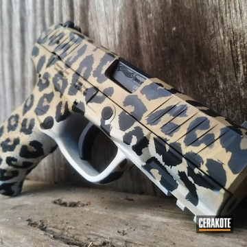 Cerakoted Cheetah Print Walther 9mm
