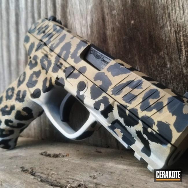 Cerakoted Cheetah Print Walther 9mm