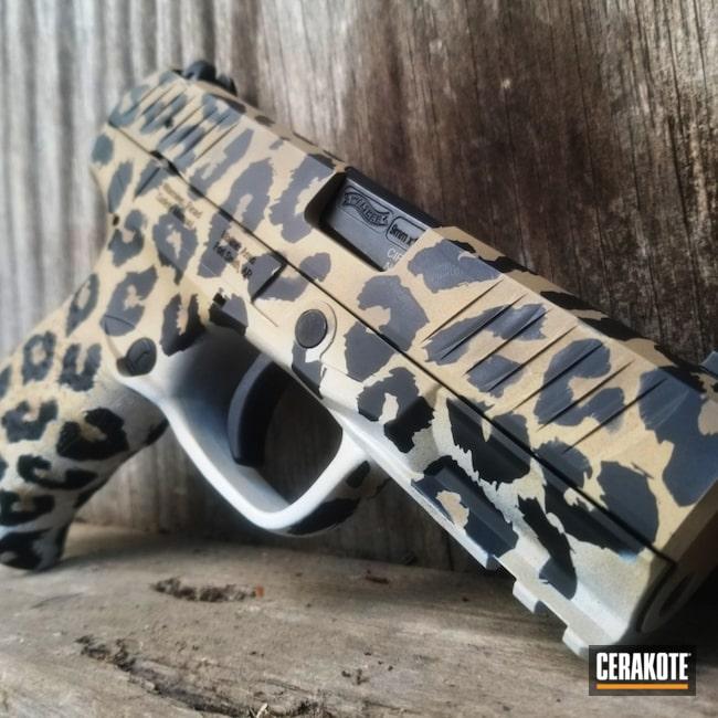 Cerakoted: S.H.O.T,9mm,Leopard Print,Walther,Cheetah Print,Graphite Black H-146,Creed,Stormtrooper White H-297,MAGPUL® FDE C-267,Pistol,Gen II Desert Sand HIR-199,Gold H-122
