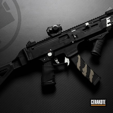 Cerakoted Cz Scorpion Evo Parts In H-136