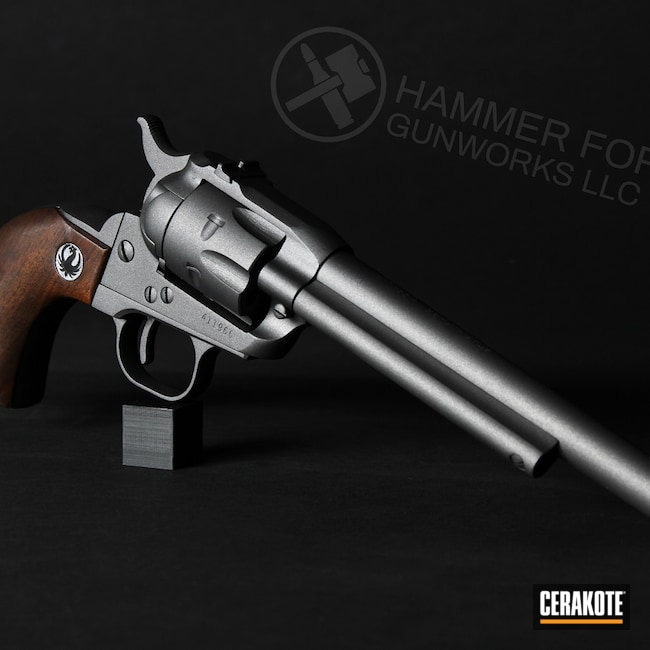 Cerakoted: S.H.O.T,Single-Action Revolver,Ruger,Revolver,Tungsten H-237,Pistol,Handguns