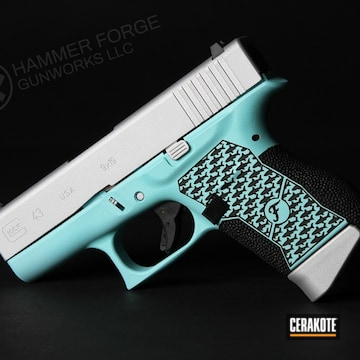 Cerakoted Shark Themed Glock 43 In H-175 And H-151