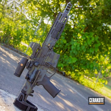 Cerakoted Ar Pistol Multicam In H-146, H-240 And H-130