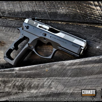 Cerakoted Two Toned Cz 75 Sp-01 In E-100 And H-152