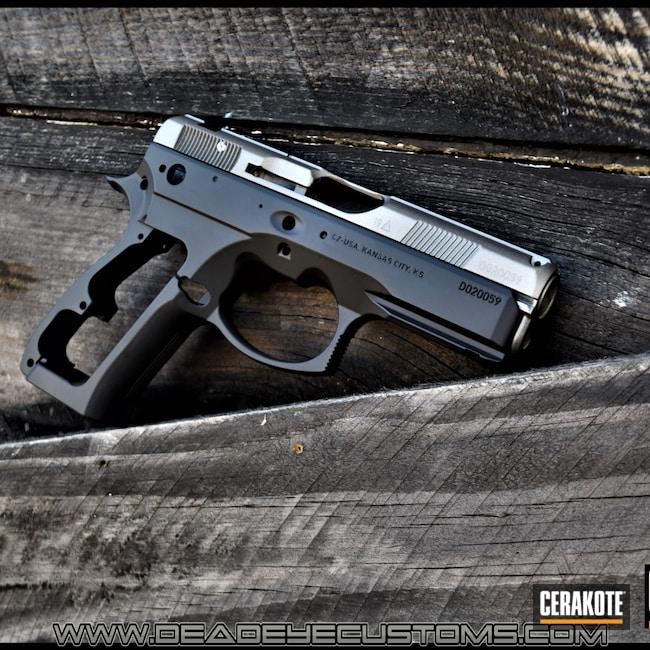 Cerakoted: S.H.O.T,CZ 75 SP-01,BLACKOUT E-100,Stainless H-152,Pistol,CZ