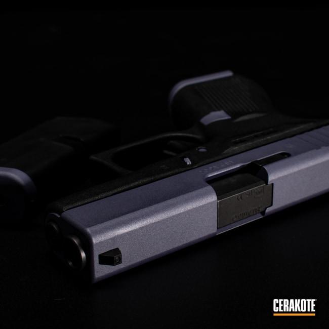 Cerakoted: S.H.O.T,9mm,Glock 42,Graphite Black H-146,Bright Purple H-217,Firearm,42,Pistol,Glock,CRUSHED ORCHID H-314